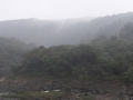 霧の湧く北斜面