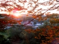 西公園から青葉山日没