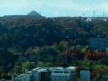 タワービルから見た青葉山(太白山の右に蔵王のスキー場が)