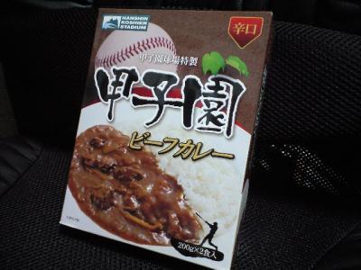 甲子園カレー辛口 ¥500(甘口もあり/おみやげ屋さんにて)