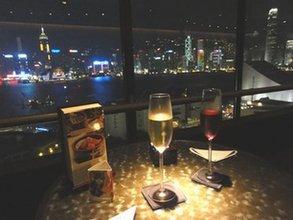 香港でシャンパン