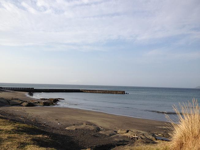 2013年2月2日塩見堤防遠景