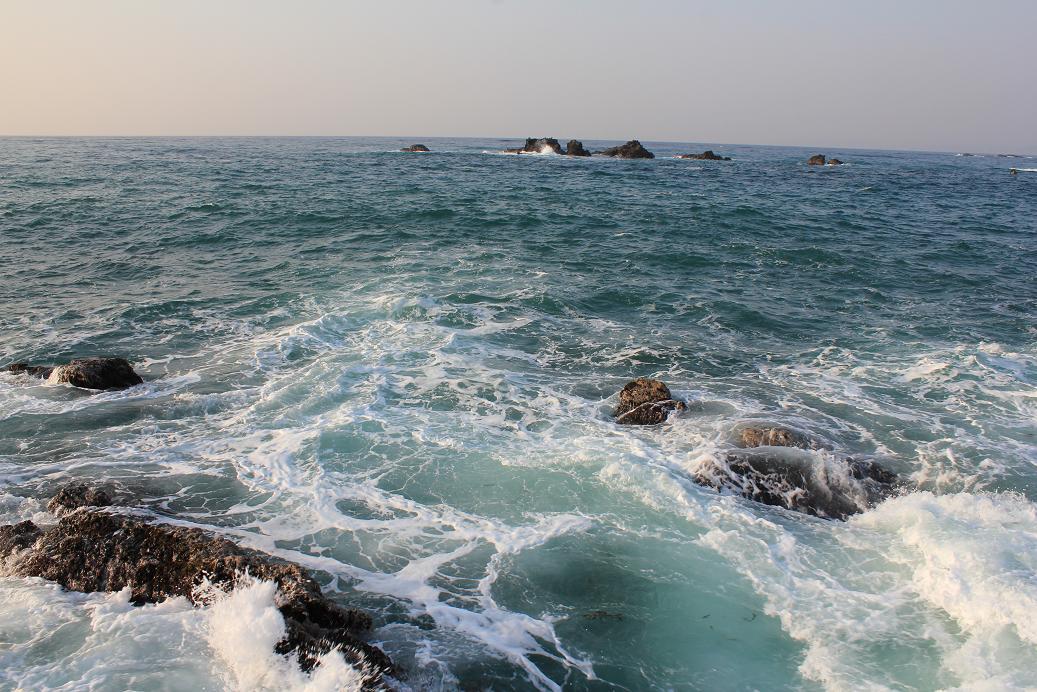 江見港釣り座からの視界1