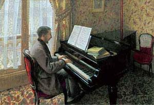 ピアノを弾く若い男 カイユボットだよ