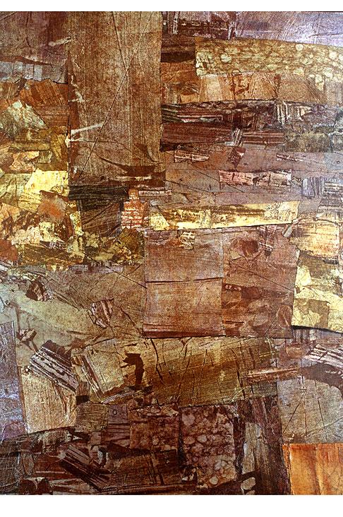 茶色地表の絵