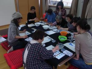 201204 水墨画ボランティア 春01
