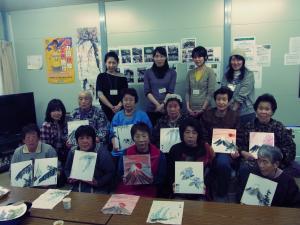 201204 水墨画ボランティア 春03