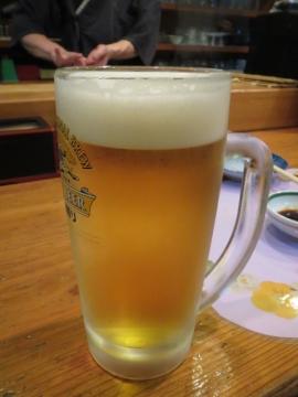 生ビール キリン一番搾り 中ジョッキ 550円