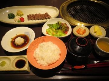 特選ランプステーキ定食 2205円
