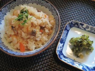 天麩羅御重蕎麦付き(かけ又はざる) 深川飯
