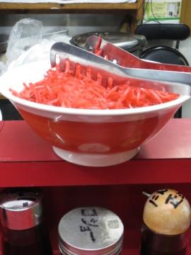 紅生姜は、丼でドーン!