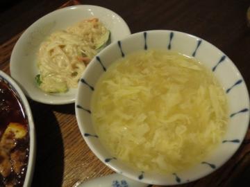 春雨のマヨネーズ和え、玉子スープ