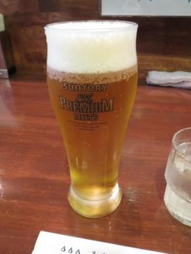 生ビールを一杯頂戴しました