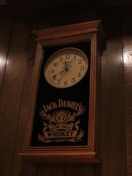 ジャックダニエルの時計。そろそろホテルに帰ろう・・・