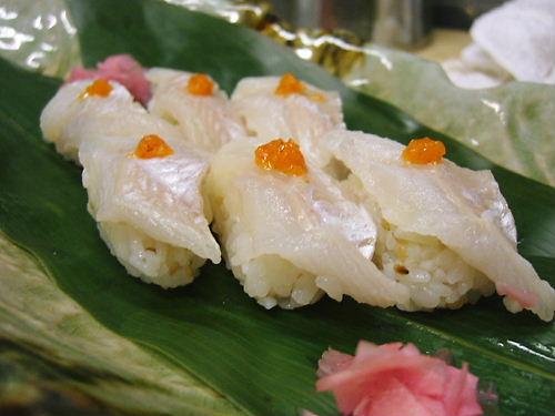 絶品ッ!!活き穴子炙り寿司