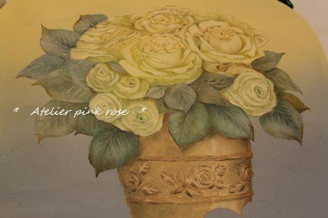 22白薔薇の鉢