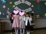入学式・教室にて