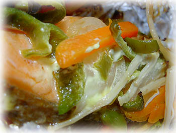 鮭の味噌マヨ蒸し焼き1