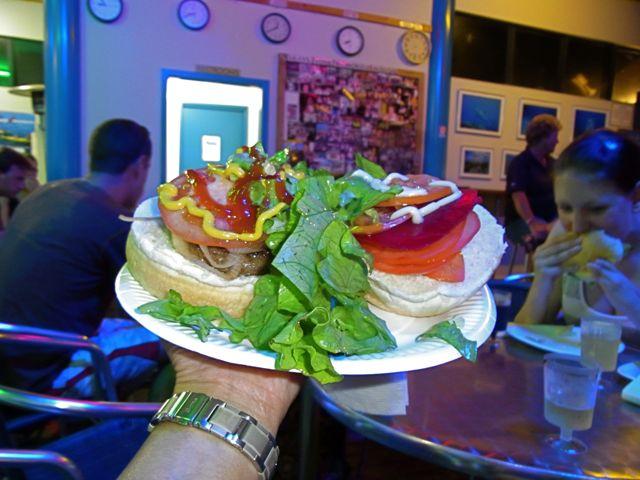 4:25夕ハンバーガー