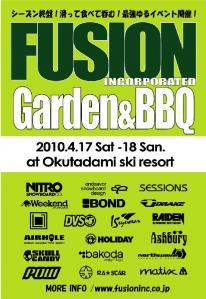 FUSION GARDENBBQ flyer