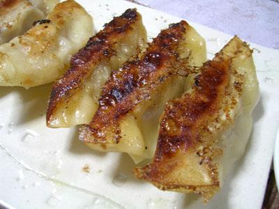 091123ギョウザ、ほうれん草とモヤシのナムル、大根とネギの味噌汁、ご飯 (1)