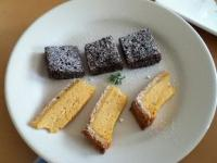 宗麟かぼちゃチーズケーキとガトーショコラ