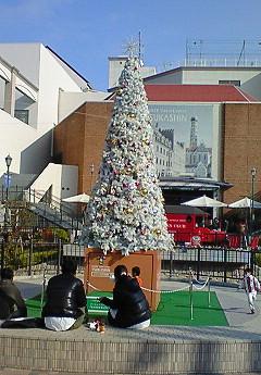 クリスマスツリー白