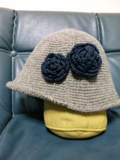 帽子 コサージュ