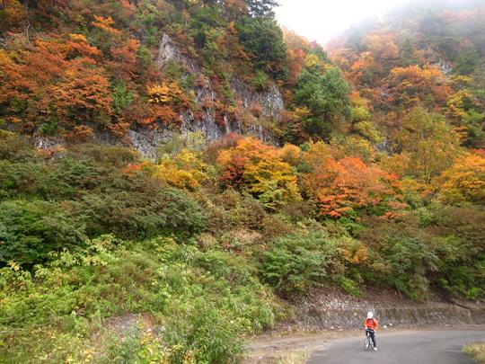 秋山郷紅葉サイクリング(その2)11