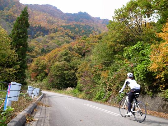 秋山郷紅葉サイクリング(その1)1