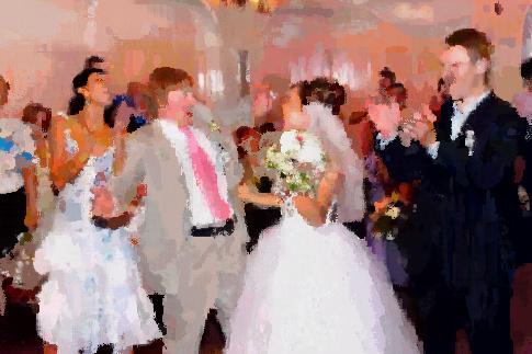 結婚式にて・・・