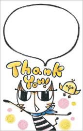 Thank youカード完成
