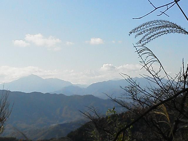 101120高尾山から富士山
