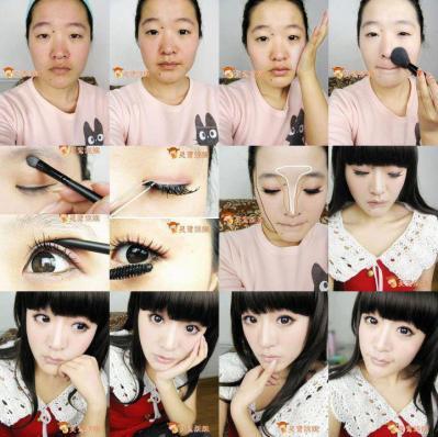 中国女子メイク ビフォーアフター