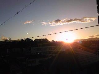 自宅からの日の出