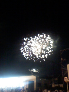 錦帯橋の花火