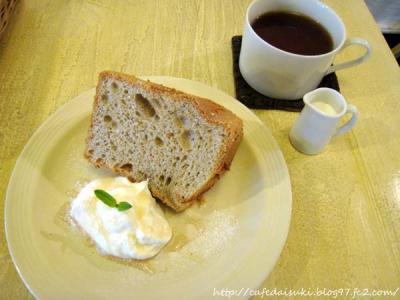 Cafe shibaken◇紅茶のシフォン&紅茶