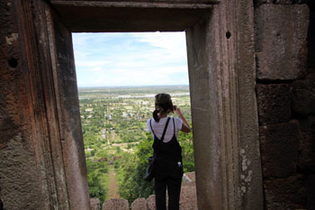 プノン・チソーからの眺め