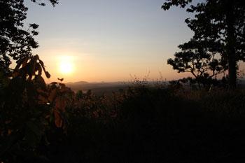 夕日の見れる丘