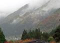 奥飛騨の朝 新平湯温泉宿の部屋から