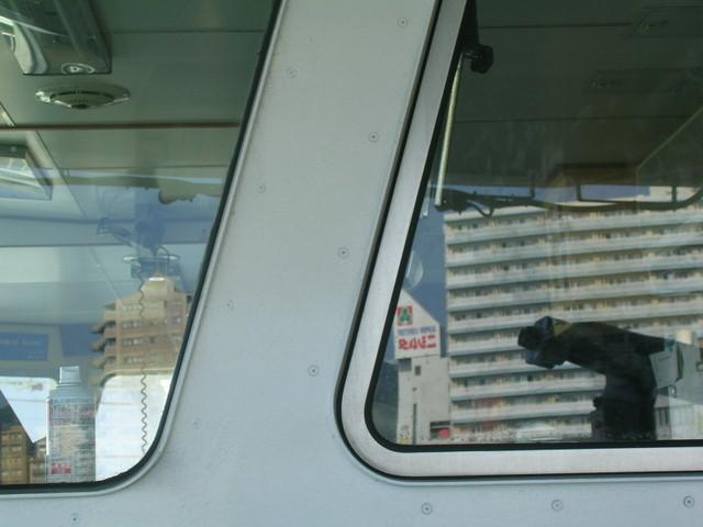 操縦室の窓ガラス