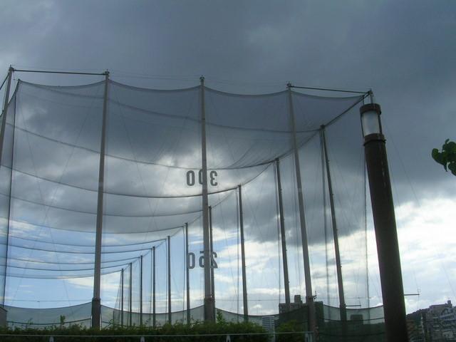 ゴルフ練習場のネット