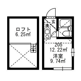 上野新築アパート 205