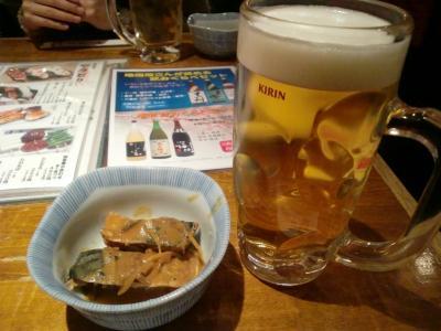 ビールとお通し@鳥太郎さん