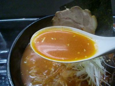 ユッケジャンラーメン スープ@麺屋 サスケさん