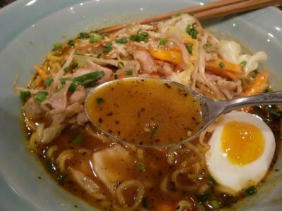 味噌バタースープカレーラーメン スープあっぷ@らっきょ大サーカス
