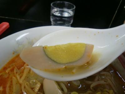 辛みそラーメン ゆで卵@飛龍さん