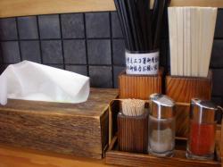 山頭火 お箸と薬味