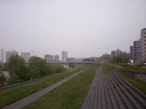 夕立の豊平橋