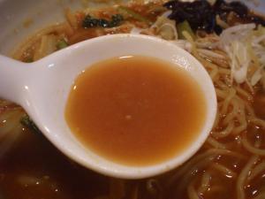 海老みそラーメン スープあっぷ@チャイナ倶楽部烈さん